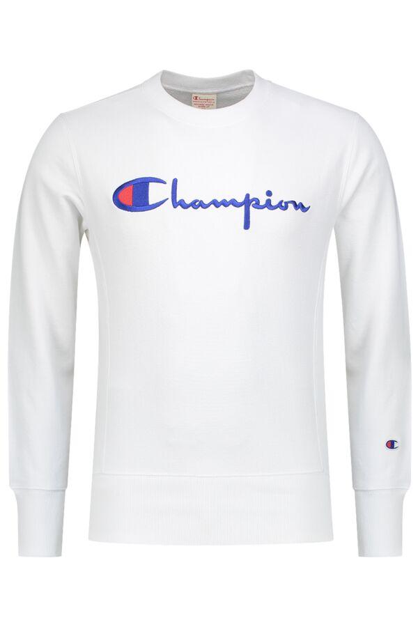 Champion Crewneck Sweatshirt in White - 210975 WW001 WHT