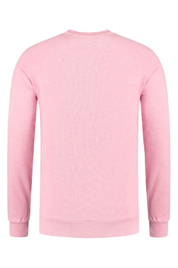 Knowledge Cotton Apparel Sweater Melange in Orchid Pink - 30375 1225