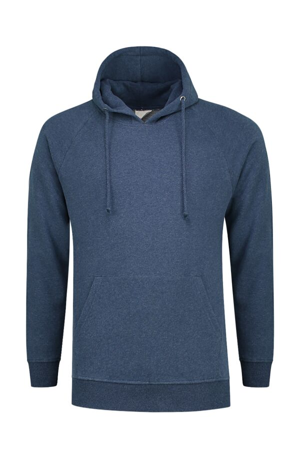 Knowledge Cotton Apparel Hood Sweat Insigna Blue Melange - 30404 1257