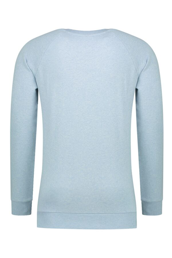 Knowledge Cotton Apparel Sweater Melange Sky Way Melange - 30395 1259