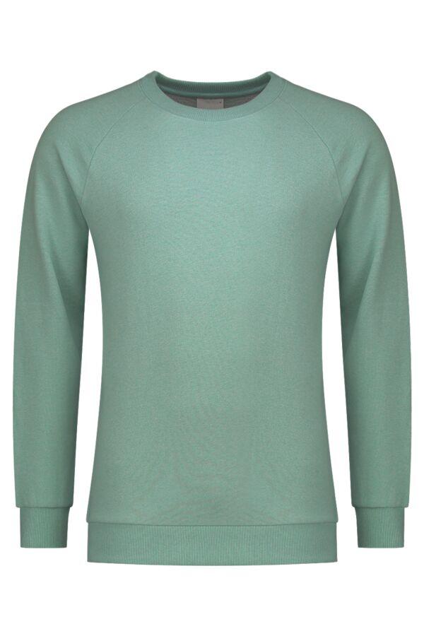 Knowledge Cotton Apparel Sweater Melange Black Forrest Melange - 30395 1256