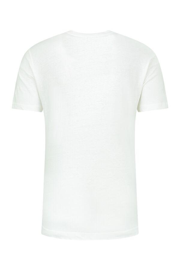 Filippa K Linen Casual Tee White - 25113 1009