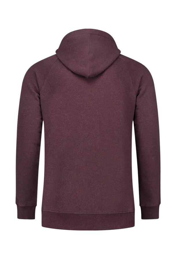 Knowledge Cotton Apparel Hood Sweat Decadent Choklade Melange - 30404 1258