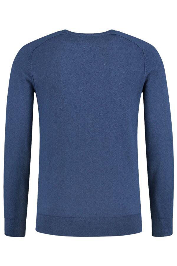 FIlippa K Cotton Merino Sweater in Prince Blu Mel. - 19980 8031