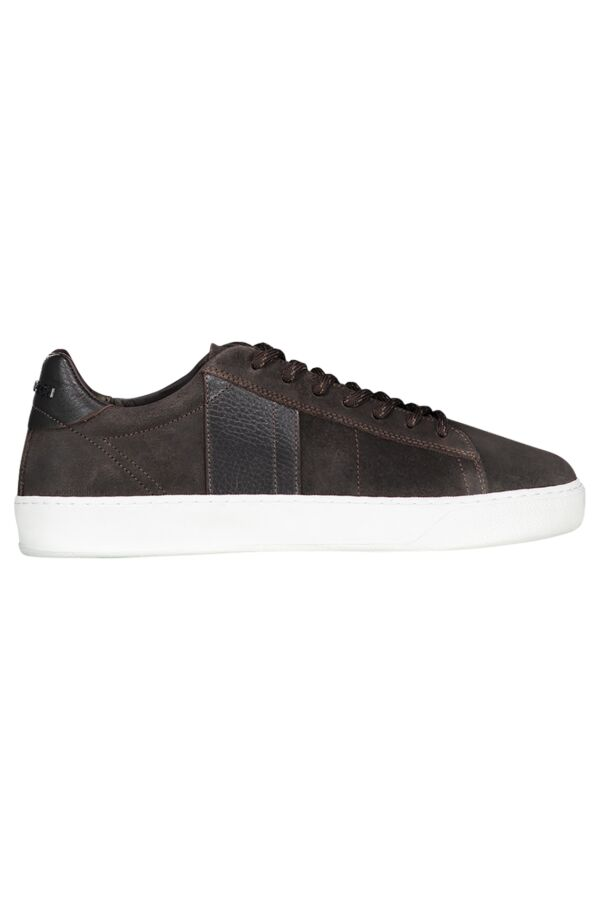 Woolrich Footwear Court Low Man Leather Sneaker Brushed Brown - W3030310