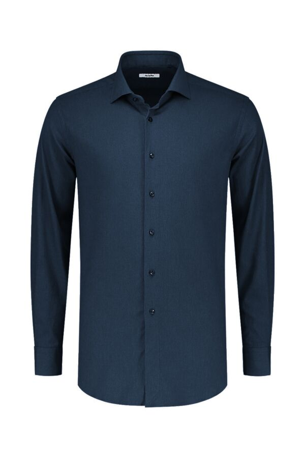 Bloom Fashion Shirt Katoen Stretch 31104 002 Donkerblauw