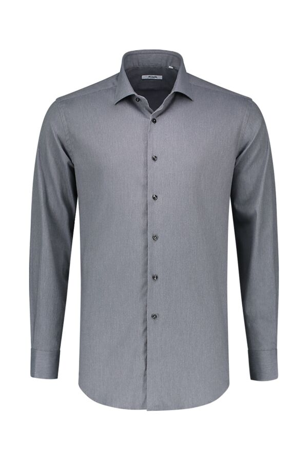 Bloom Fashion Shirt Katoen Stretch 31104 003 Mid Grijs