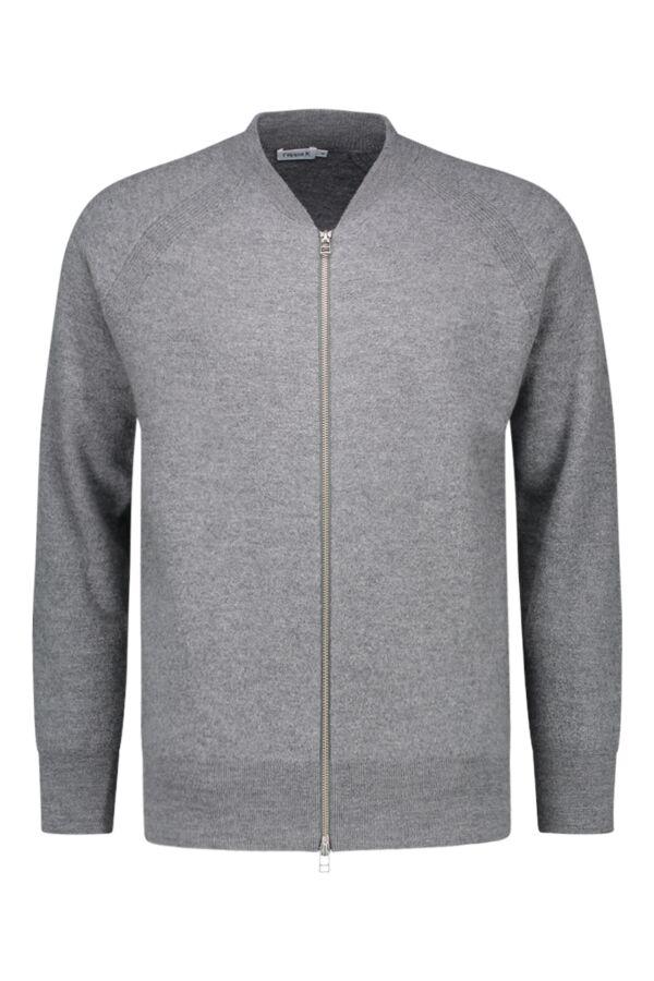 Filippa K Boiled Wool Zip Jacket Grey Mel. - 25453 1448