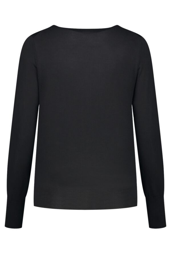 Filippa K Merino Short Cardigan in Black - 25302 1433