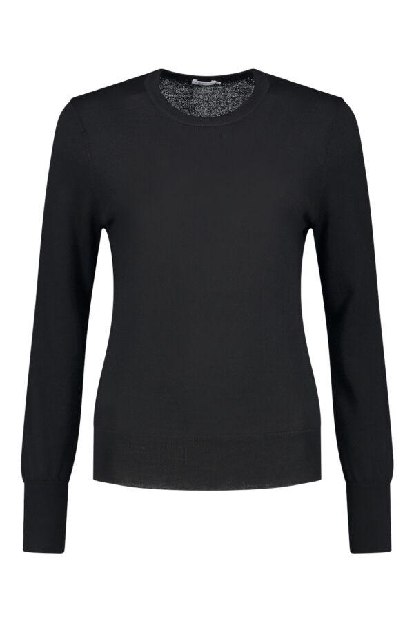 Filippa K Merino R-Neck Sweater Black - 25303 1433