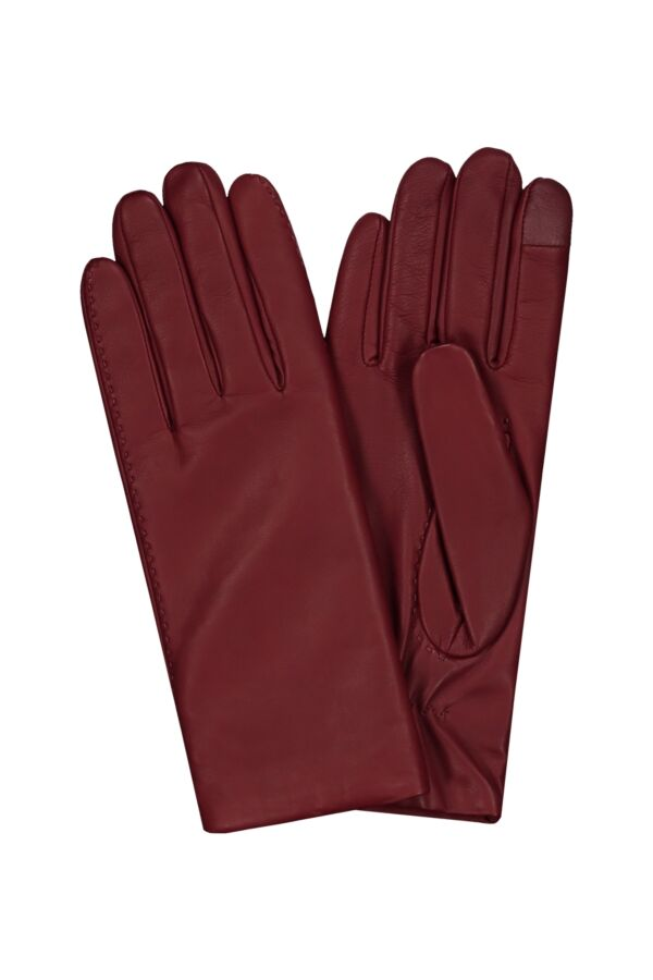 Filippa K Touch Gloves in Deep Red - 25565 7904