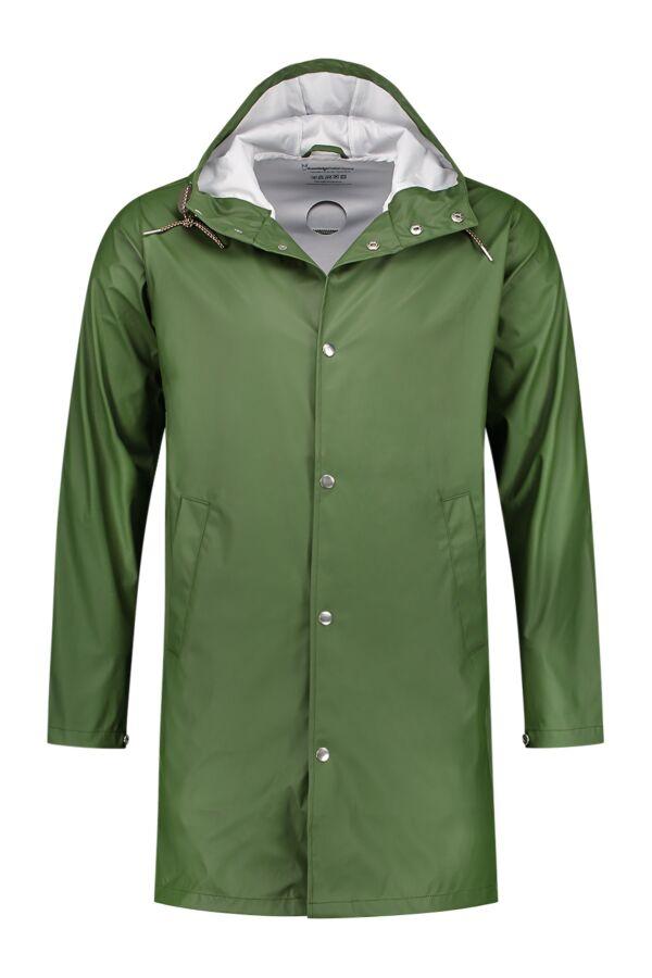 Knowledge Cotton Apparel Long Rain Jacket in Black Forrest - 92201 1249