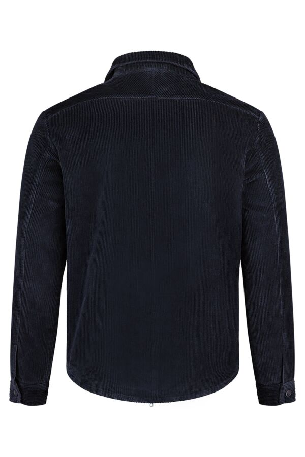 Knowledge Cotton Apparel Corduroy Shirtjack in Total Eclipse - 92333 1001