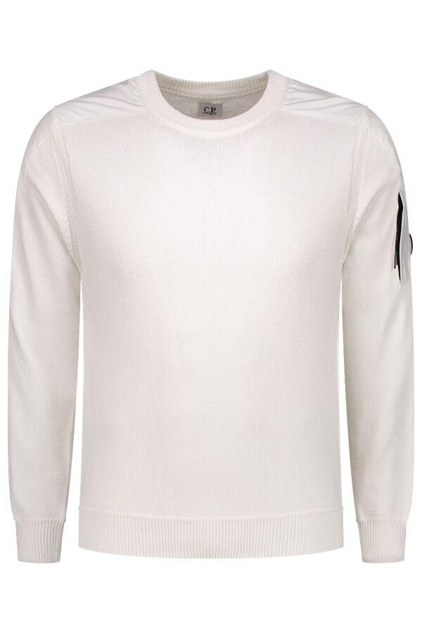 C.P. Company Pullover Crew Neck Cotton Gauze White - 06CMKN143A 005367M 103