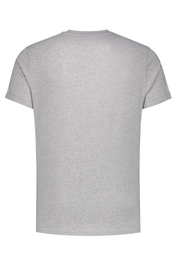 Filippa K M. Heavy Single Jersey Roll-up Light Grey Mel. - 25979 1451