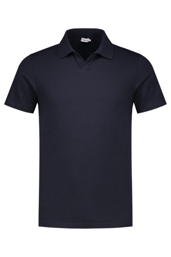 Filippa K M. Lycra Polo T-Shirt Navy - 25978 2830