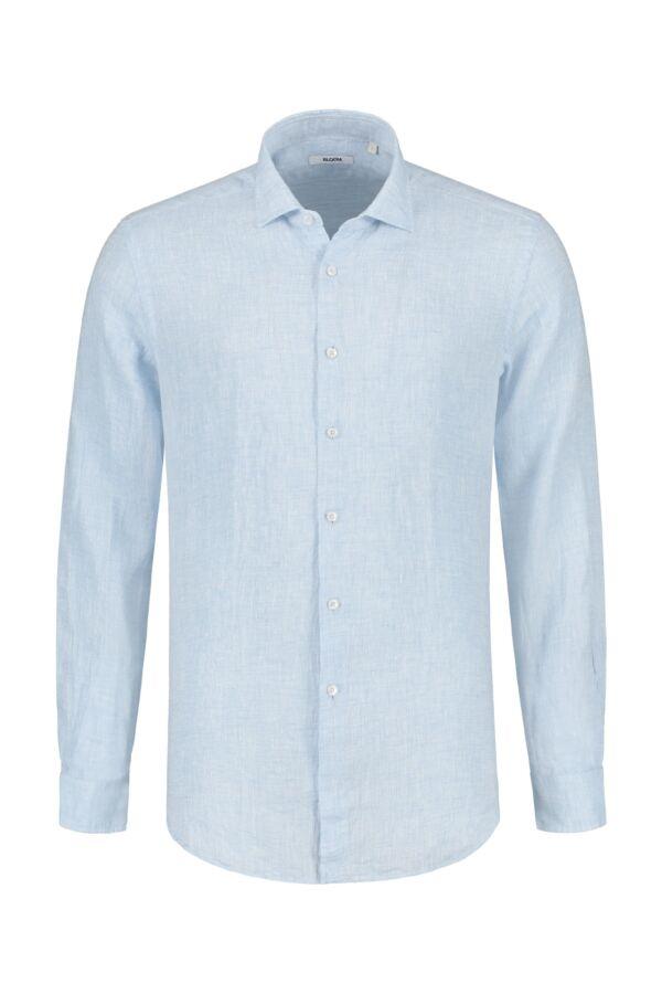 Bloom Fashion Linnen Shirt Lichtblauw - 748ML 41174 004