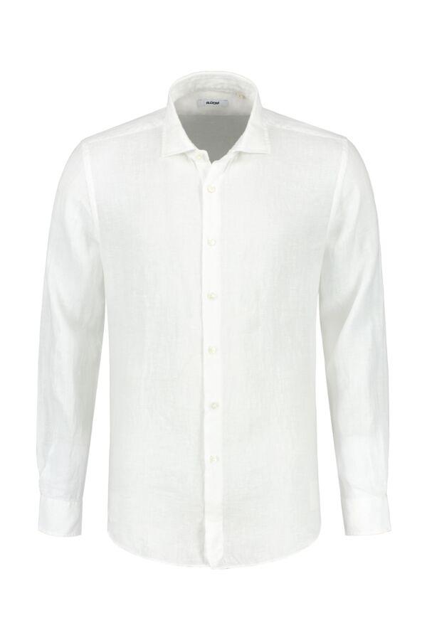 Bloom Fashion Linnen Shirt Wit - 748ML 41125 001