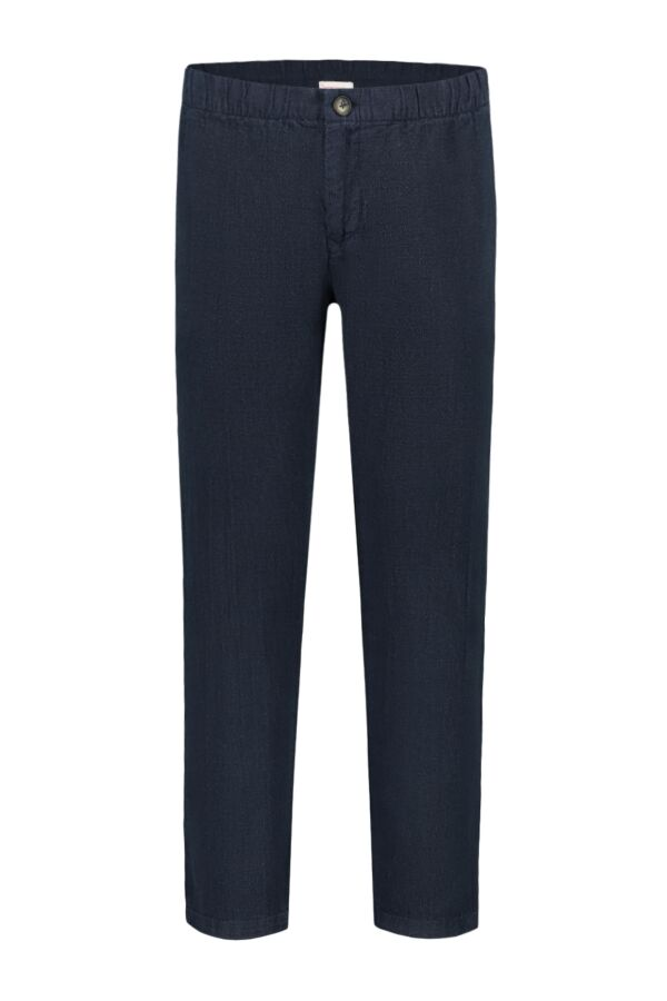 Knowledge Cotton Apparel Loose Pants w/ String Total Eclipse - 70178 1001