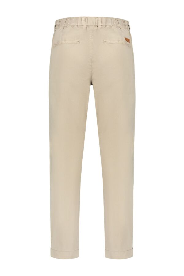Knowledge Cotton Apparel Pants w/ Turn Up Light Feather Gray - 70177 1228