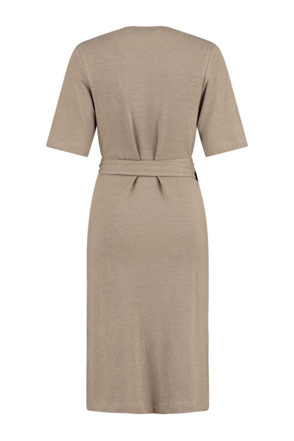 Filippa K Linen Wrap Dress Greige - 26065 8246