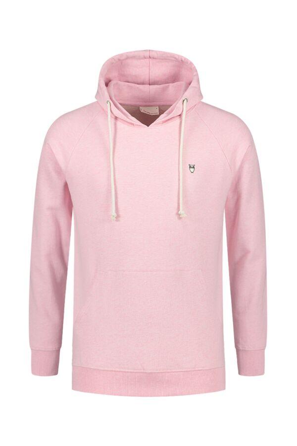 Knowledge Cotton Apparel Hood Sweat Pink Melange - 30404 1270