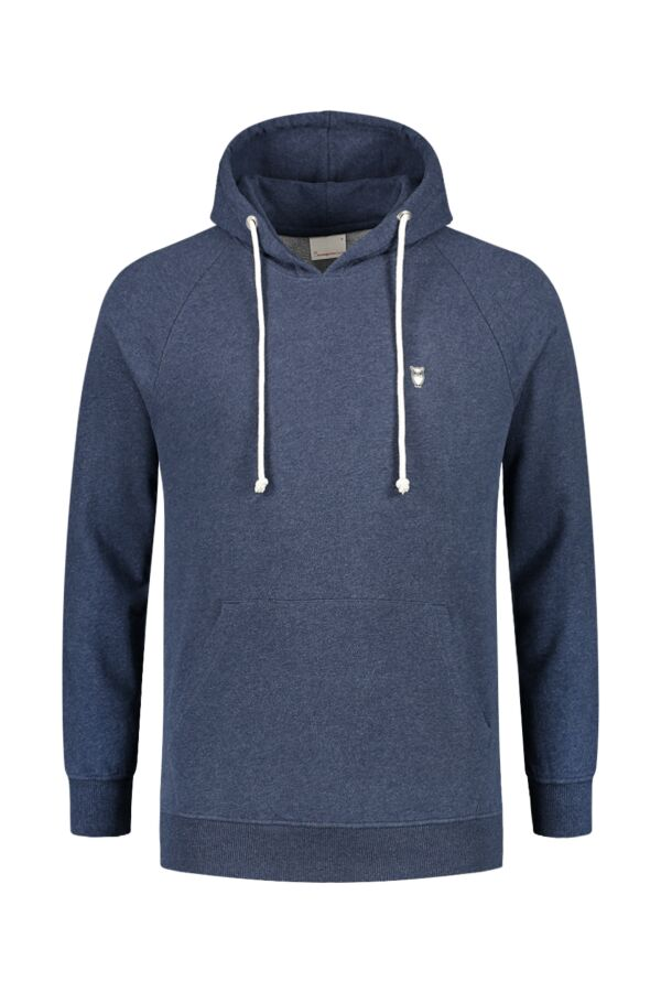 Knowledge Cotton Apparel Hood Sweat Insigna Blue Melange - 30404 1257