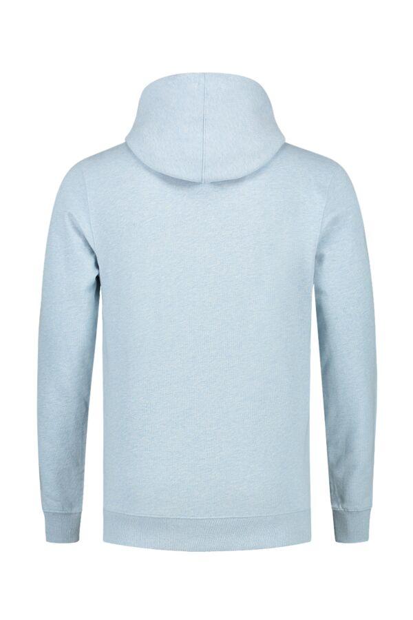Knowledge Cotton Apparel Hooded Sweatvest in Sky Way Melange - 30186 1259
