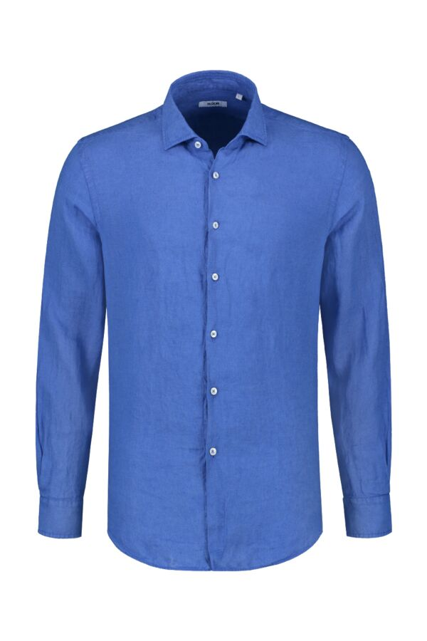 Bloom Fashion Linnen Shirt Indigo - 748ML 41125 801