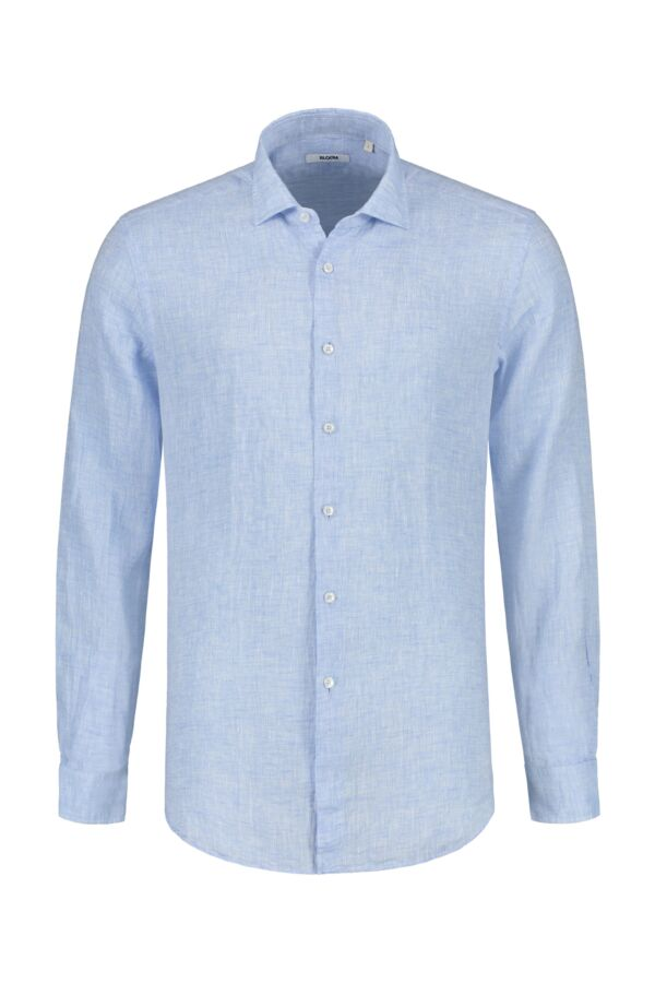 Bloom Fashion Linnen Shirt Blauw - 748ML 41174 006