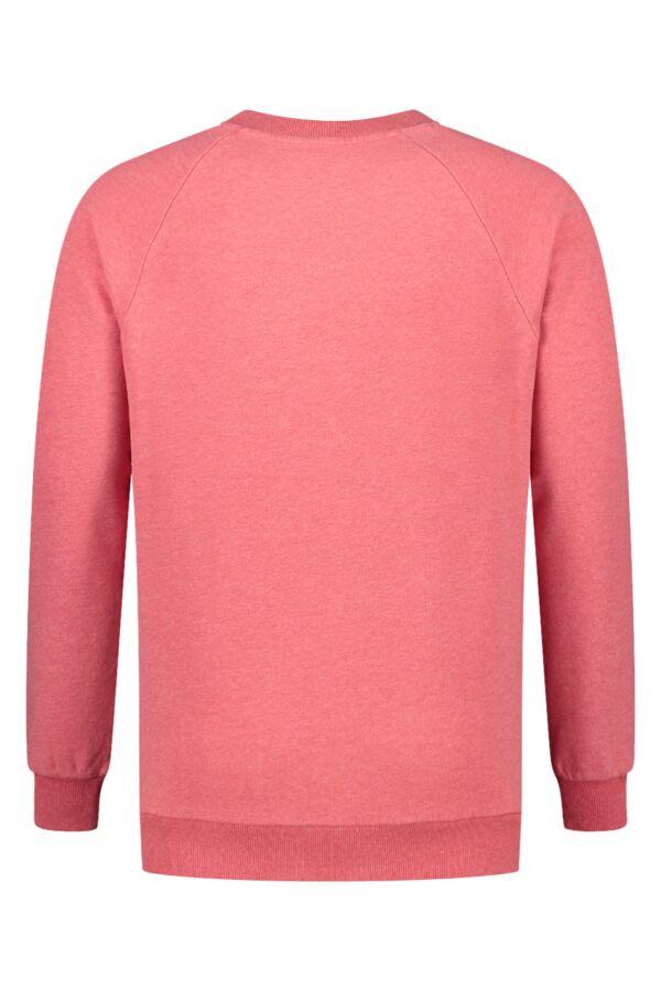 Knowledge Cotton Apparel Sweater Melange Coral Melange - 30395 1271