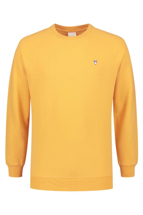Knowledge Cotton Apparel Sweater Melange Banana - 30395 1269