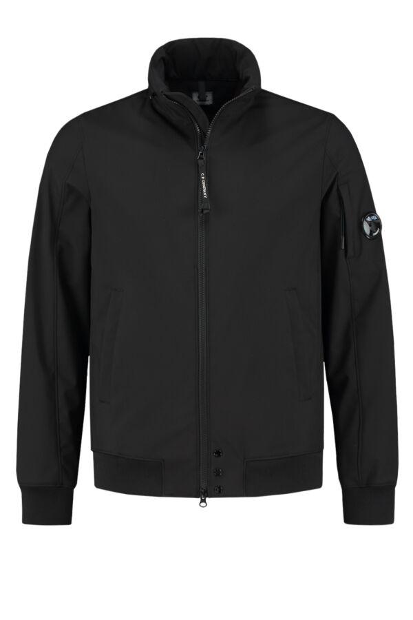 C.P. Company Soft Shell Jacket Black - 06CMOW014A 005159A 999