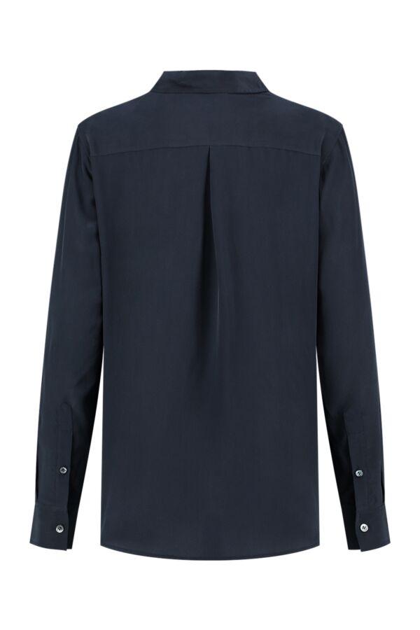 Filippa K Classic Silk Shirt Navy - 19539 2830