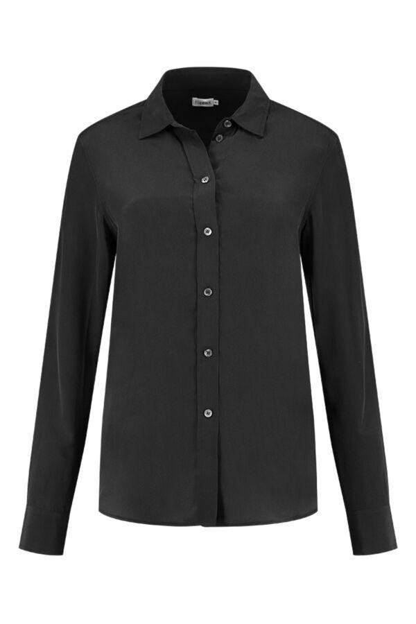 Filippa K Classic Silk Shirt Black - 19539 1433
