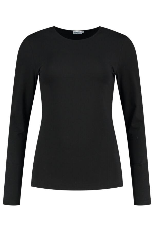 Filippa K Cotton Stretch Long Sleeve Black - 25332 1433