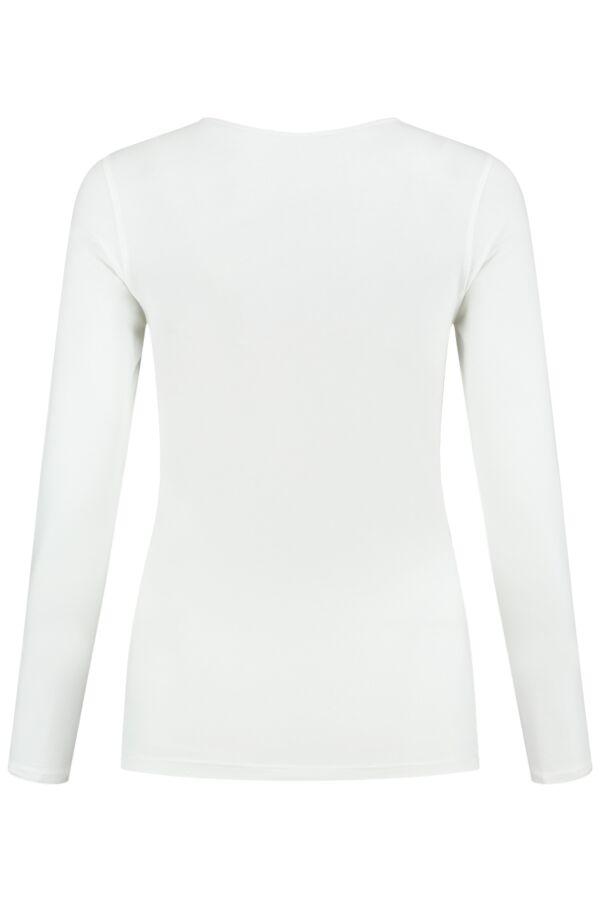 Filippa K Cotton Stretch Long Sleeve White - 25332 1009
