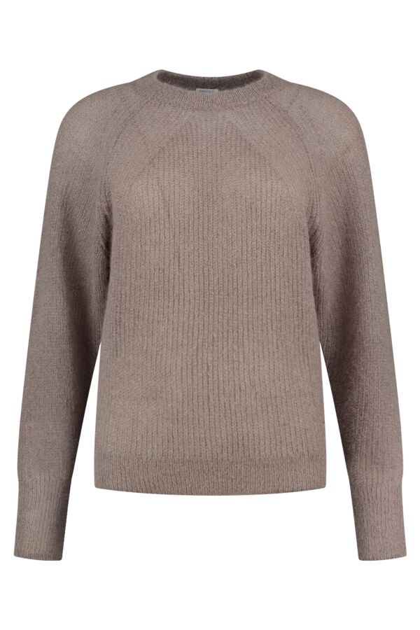 Filippa K Mohair R-Neck Sweater Dark Taupe - 25311 8504