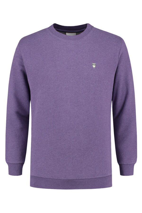 Knowledge Cotton Apparel Small Owl Sweater Royal Purple Melange - 30163 1288