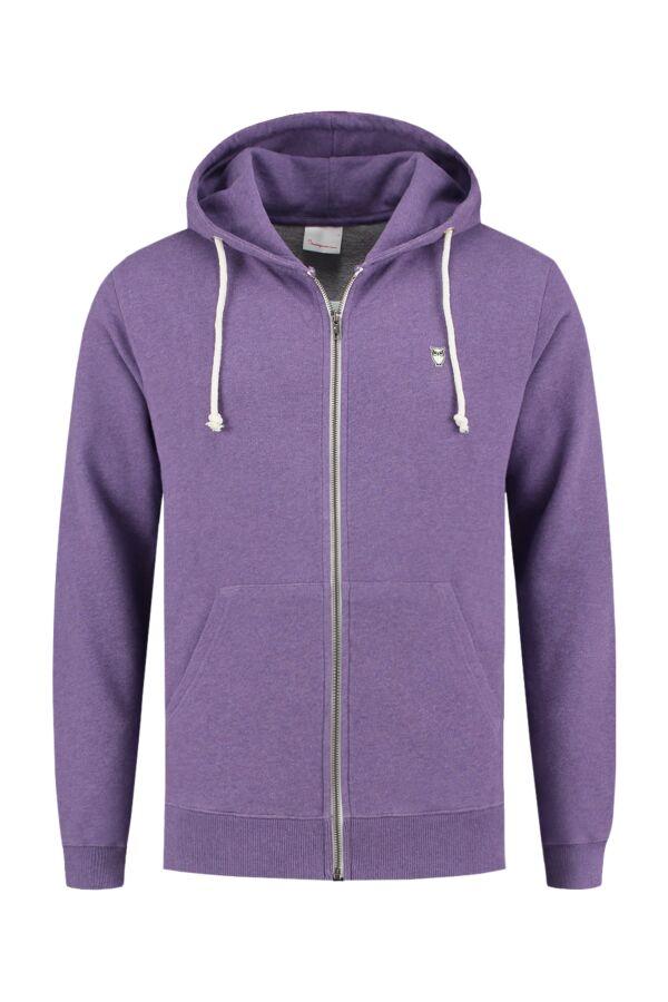 Knowledge Cotton Apparel Hooded Sweatvest Royal Purple Melange - 30186 1288