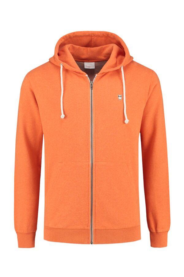 Knowledge Cotton Apparel Hooded Sweatvest Orange Melange - 30186 1290