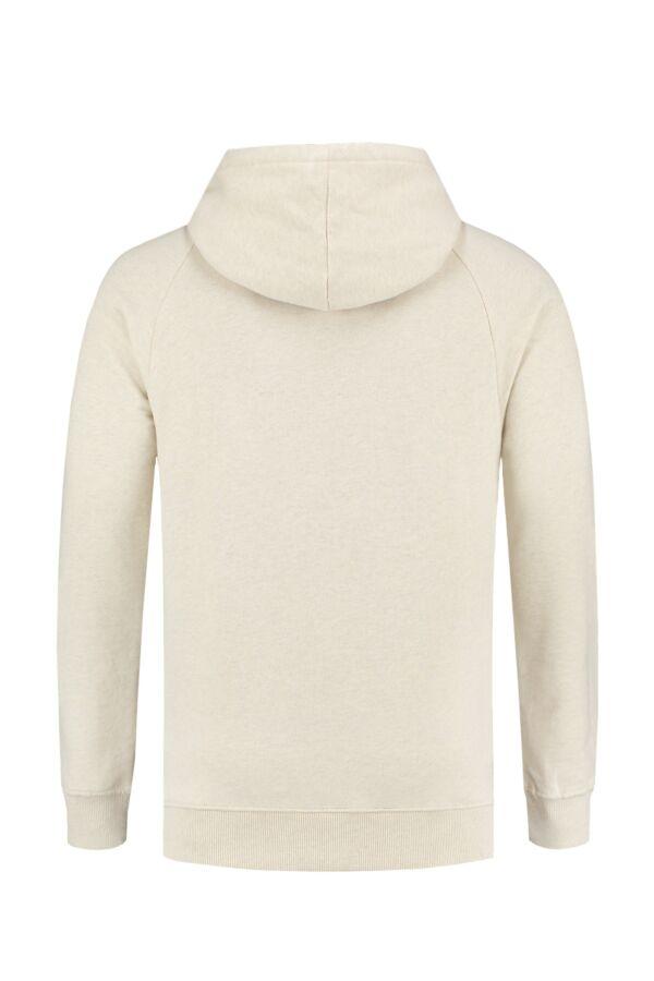 Knowledge Cotton Apparel Small Owl Hood Sweat White Melange - 30404 1229