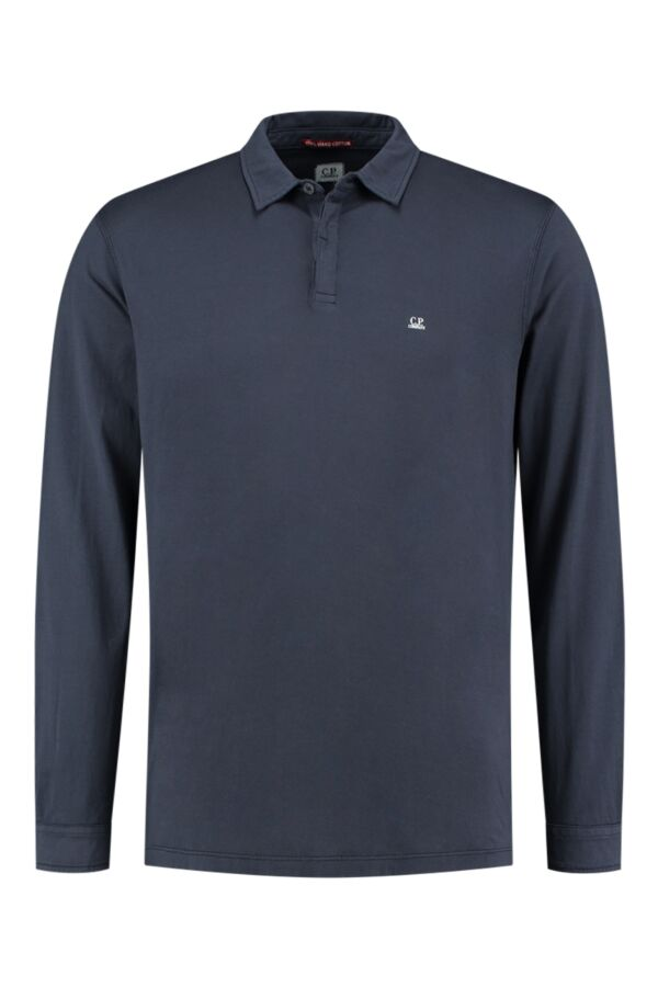 C.P. Company Polo LS Jersey Total Eclipse - 07CMPL107A 000444G 888