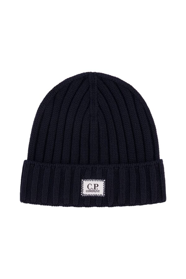 C.P. Company Extrafine Merino Wool Hat Total Eclipse - 07CMAC214A 005509A 888