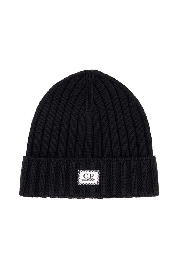 C.P. Company Extrafine Merino Wool Hat Black - 07CMAC214A 005509A 999