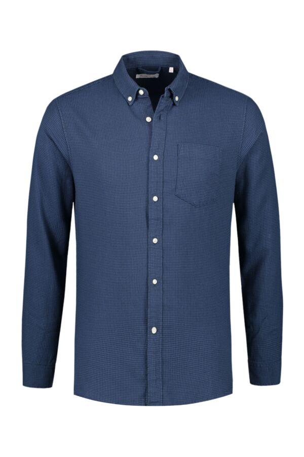 KCA Flannel Check Shirt 90761 1188 Dark Denim