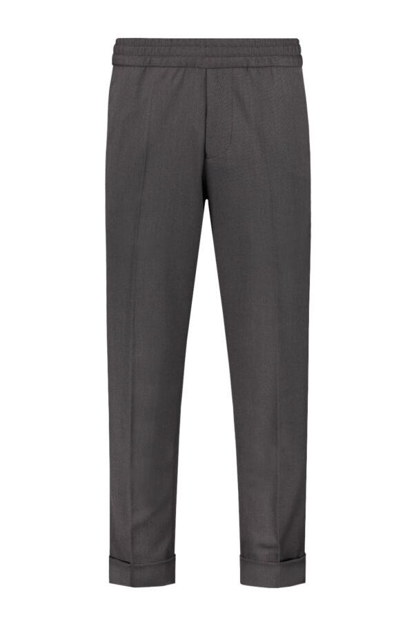 Filippa K Terry Cropped Trouser Dark Mole - 22023 8536
