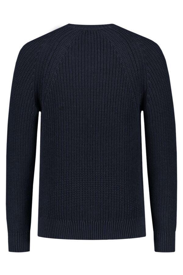 Filippa K Chunky Rib Cotton R-Neck Sweater Navy - 26029 2830