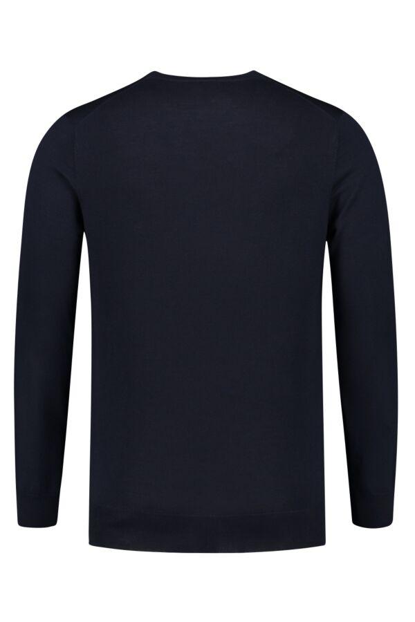 Filippa K Merino V-Neck Sweater Navy - 25966 2830