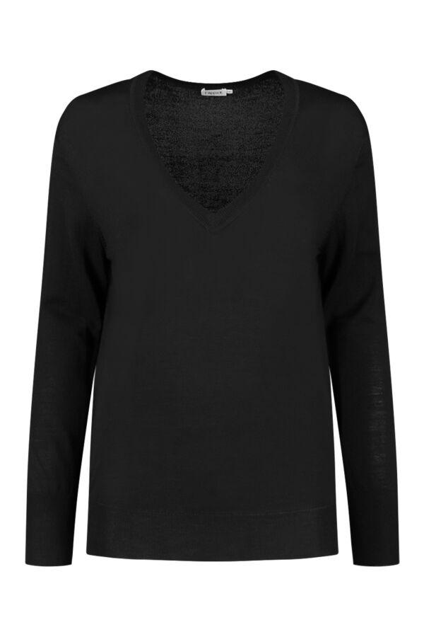 Filippa K Merino V-Neck Sweater Black - 25304 1433